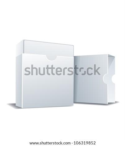 Package white box, vector illustration - stock vector