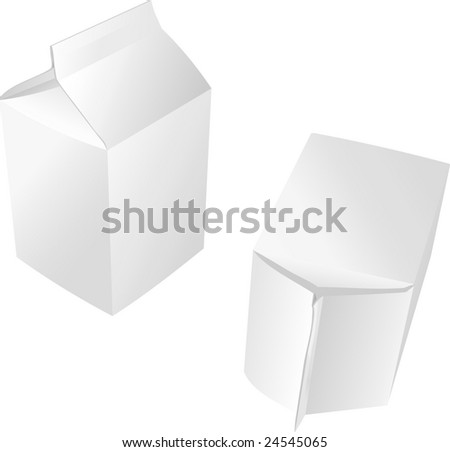 packages for juice, milk, paper packing for products, vector illustration - stock vector