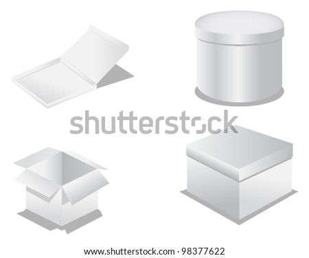 packaging box - stock vector