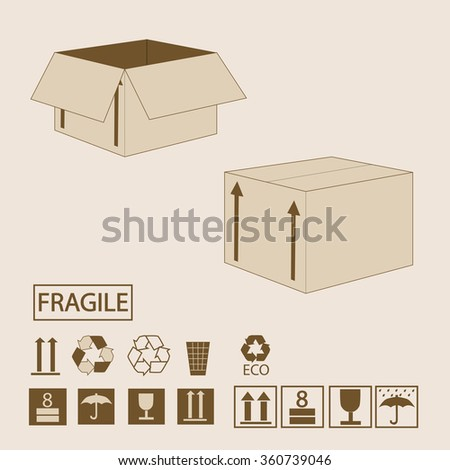 Packaging box background - stock vector