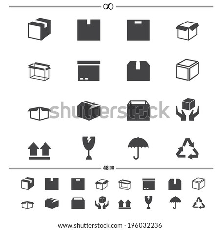 Packaging boxes icons .vector eps10 - stock vector