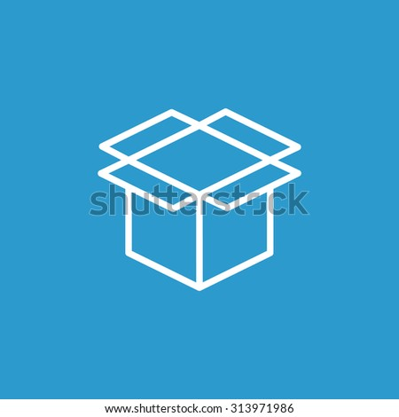 packaging cardboard box icon - stock vector
