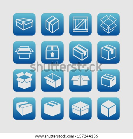 Packaging icons - stock vector