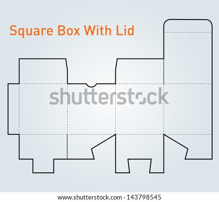 packaging square box lid template vector stock vector 143798545 rh shutterstock com vector packaging hasselt vector packaging templates