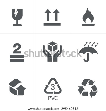 Packaging Symbols - stock vector
