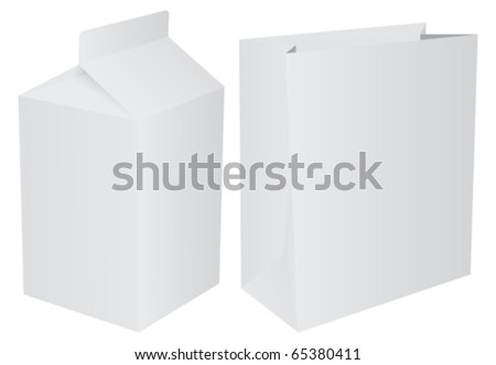 Packets - stock vector