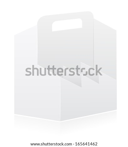 packing box for bottle vector illustration isolated on white background