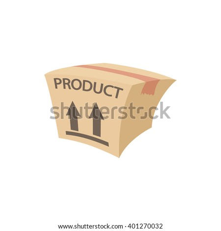 Packing box icon, cartoon style - stock vector