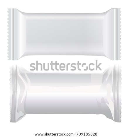 Packing Label Bar Template On White Stock Vector - Packing label template