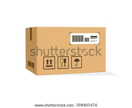 Packing product icon design style. Packing boxes, box delivery, package service, transportation parcel, deliver container, receive pack, send and logistic isolated vector illustration