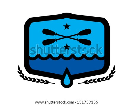 Paddle Badge. - stock vector