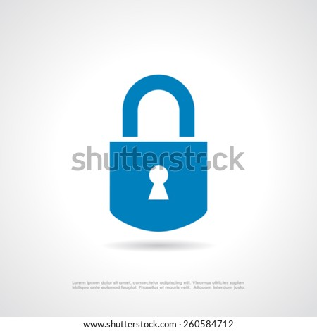 Padlock icon  - stock vector