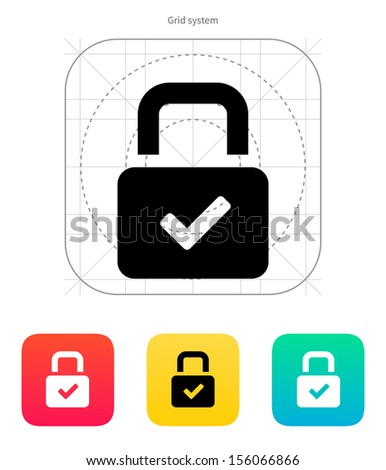 Padlock icon. Vector illustration. - stock vector