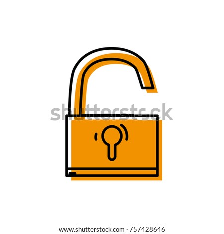 padlock object symbol to security protection