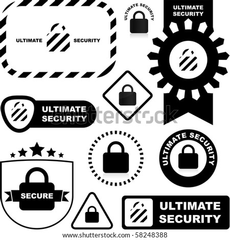 Padlock sign. Vector collection.