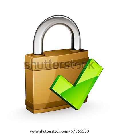 padlock validation - stock vector