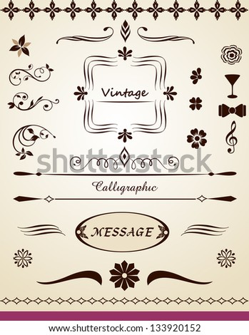 Page and text decoration - stock vector