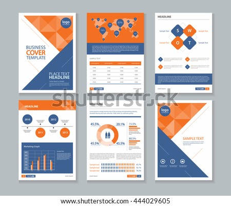 Page Company Profile Annual Report Layout Vector 444029605 – Company Profile