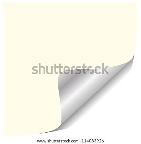 Page corner - stock vector