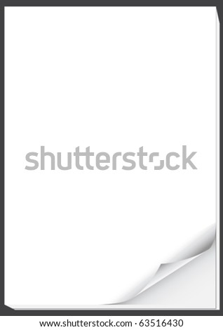 page curl - stock vector