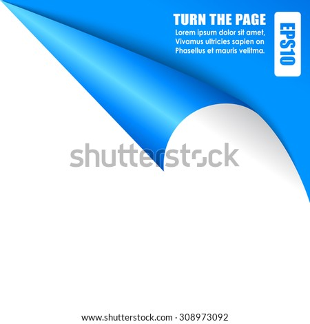 Page curled corner - stock vector
