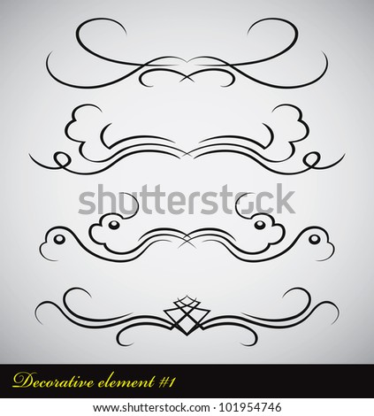 page decoration element - stock vector