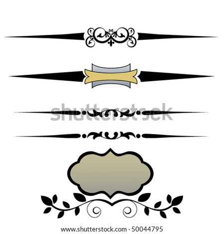 Page divider - stock vector