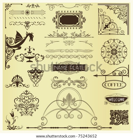 Page Embellishments - elements for advertising,stationary & web pages - stock vector