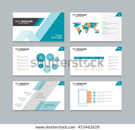page layout design template presentation brochure stock vector, Template Presentation Brochure, Presentation templates