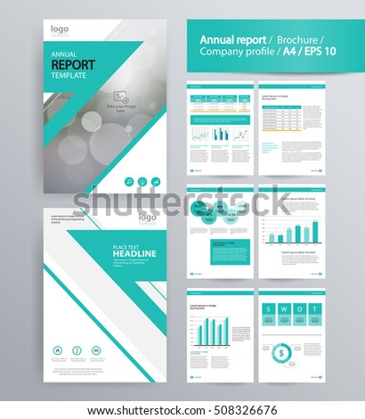 Page Layout Company Profile Annual Report Stock Vector 503919817