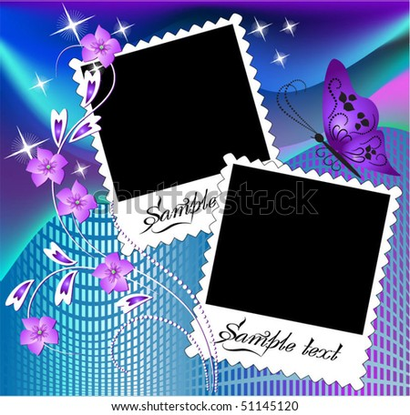 Page layout photo album - stock vector