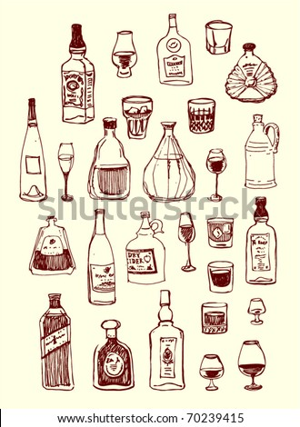 page of menu, handmade picture based. - stock vector