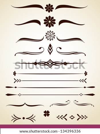 Page or text divider - stock vector