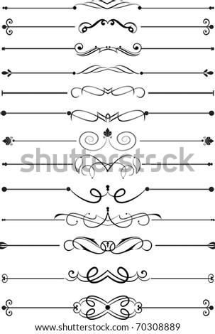 Page rule assortment - stock vector
