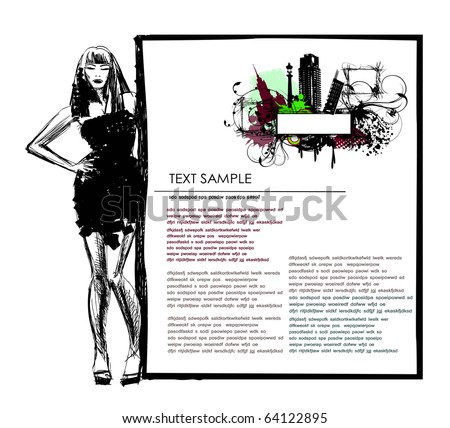 page template - stock vector