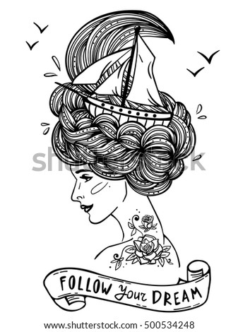 Page Print Adult Coloring Book Hand Stock Vector 500534248 ...