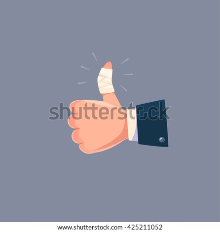 Painful like. Concept vector illustration. - stock vector