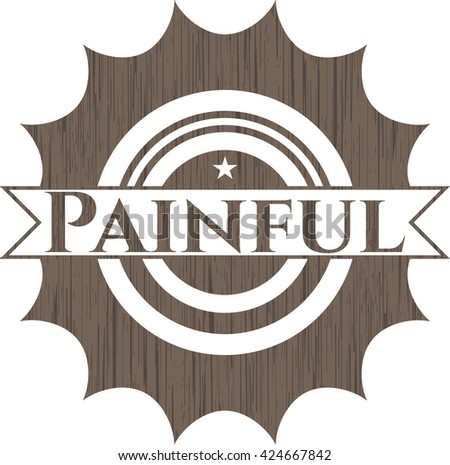 Painful vintage wood emblem - stock vector