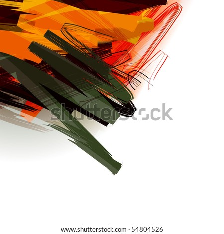 Paint abstract background design series - stock vector