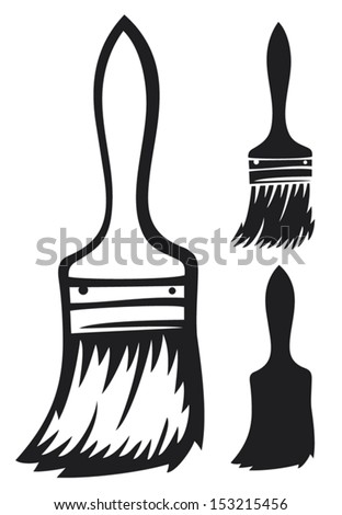 paint brush - stock vector