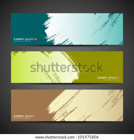 Paint brush banner colorful background. vector illustration - stock vector