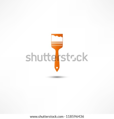 Paint Brush Icon - stock vector