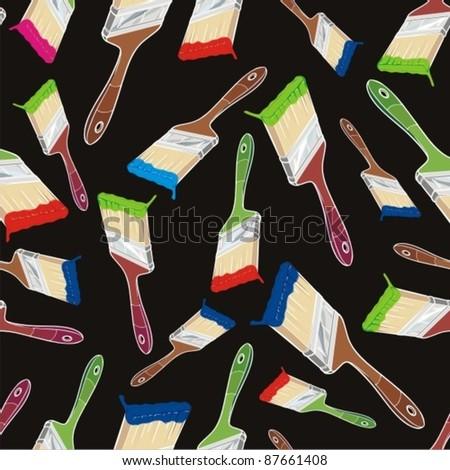 paint brush pattern - stock vector