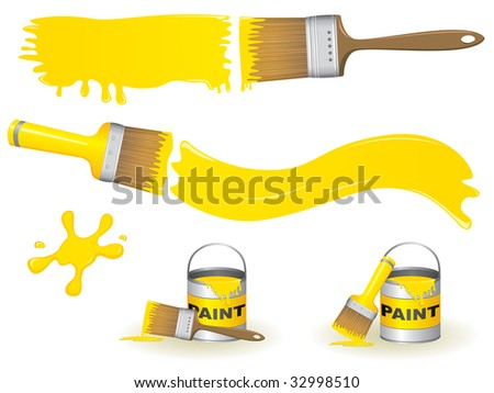 Paint brushes - stock vector