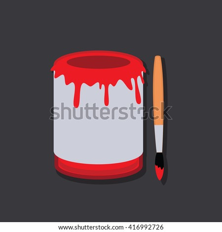 Paint Bucket Flat Vector. Isolated vector. Icon