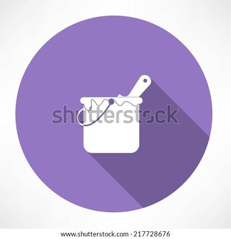 Paint Bucket Vector Paint Bucket Icon