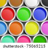 Paint Cans. Vector Illustration - stock photo