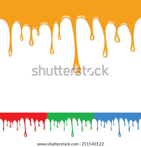 Paint colorful dripping background - stock vector