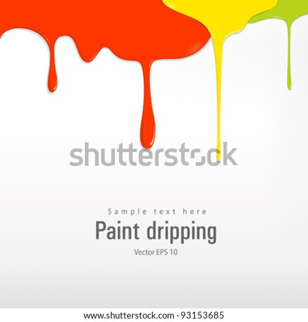 Paint colorful dripping vector illustration - stock vector
