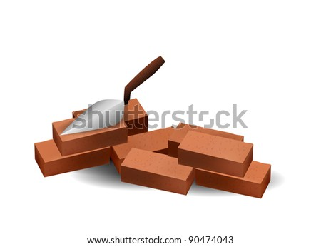 Paint Construction Materials Bricks - stock vector